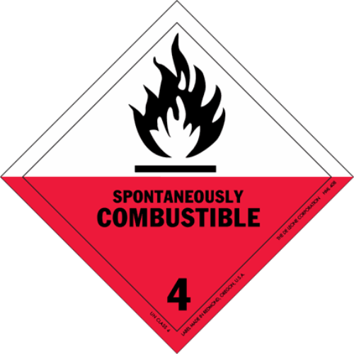 Class 4.2: Spontaneously Combustible Solids